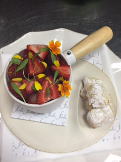 Fiola's dessert of fruits and Jewish-Italian almond cookies
