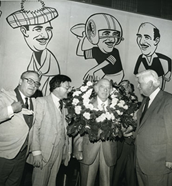 "Tip O'Neill with Duke Zeibert at the ""Going Out of Business"" party, May 1980. Courtesy of the Historical Society of Washington, DC"