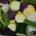 Roasted Vegetables with Garlic Scapes