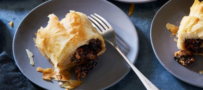 Sweet Cheese and Fig Strudel