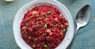 Georgian Quinoa with Beets and Walnuts